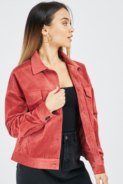 Cord Button Up Jacket