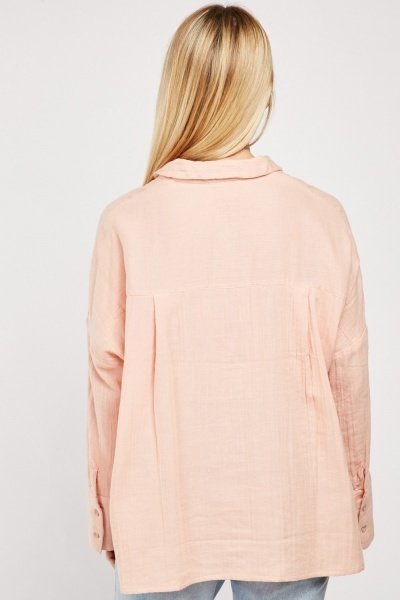 Crinkle Textured Shirt