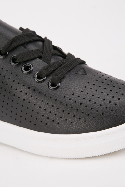 Laser Cut Textured Trainers