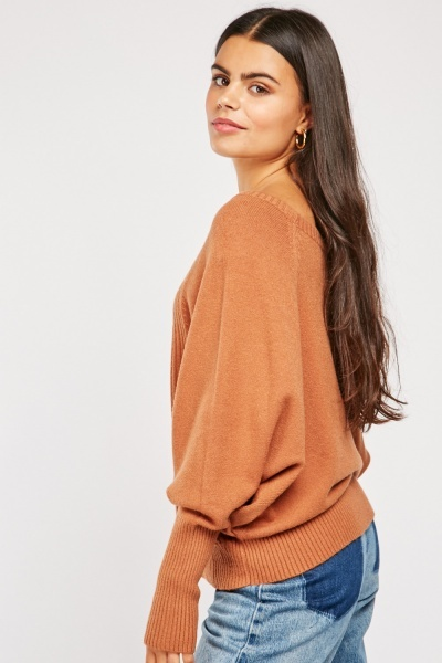 Contrasted Knit Pattern Jumper