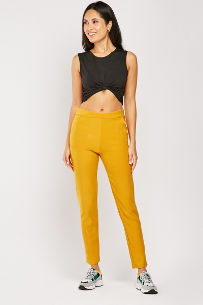 High Waist Stretchy Trousers