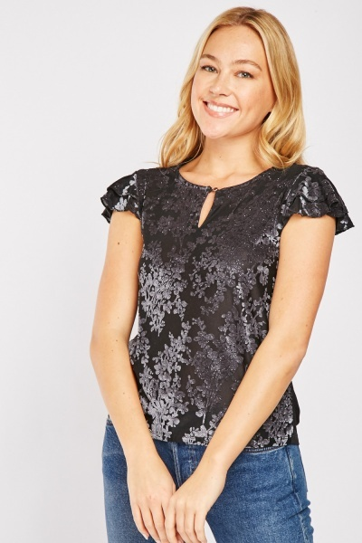 Shimmery Embossed Top