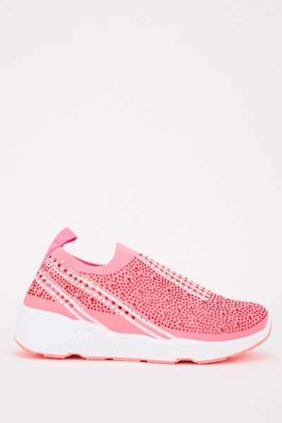 Embellished Sock Slip On Low Trainers