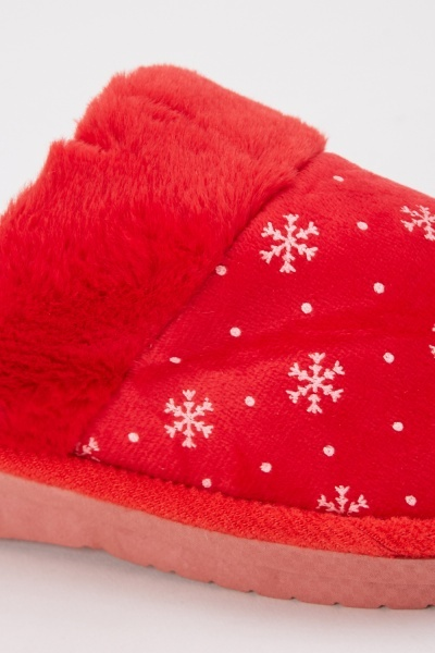 Snowflake Soft Slippers