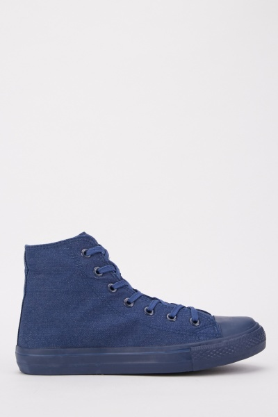 Mens High Top Canvas Sneakers
