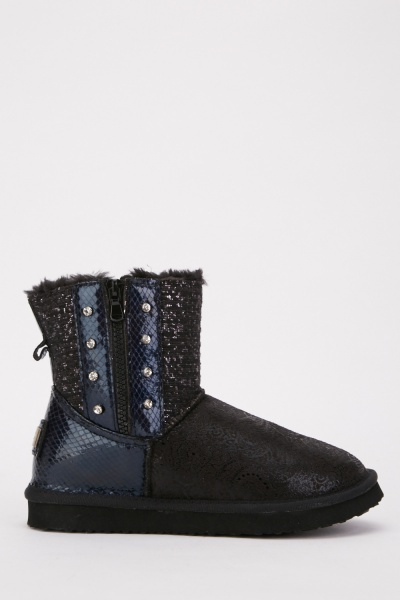Patterned Winter Boots