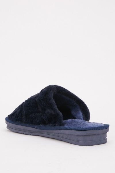 Mens Front Logo Slippers