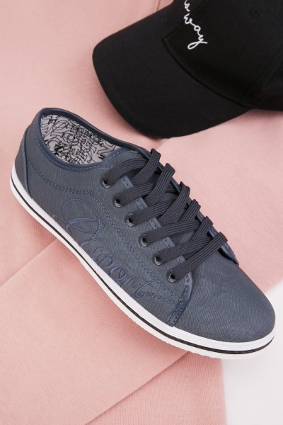 Mens Textured Lace Up Shoes