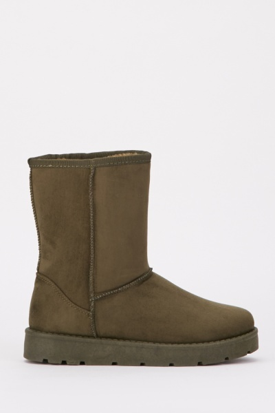 Army Green Winter Boots