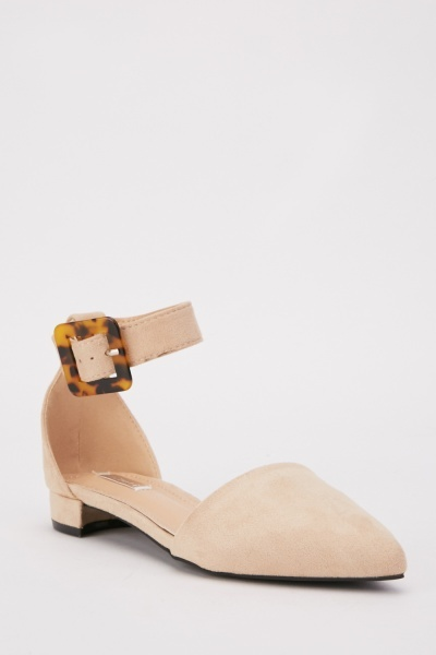 Suedette Pointed Toe Heels