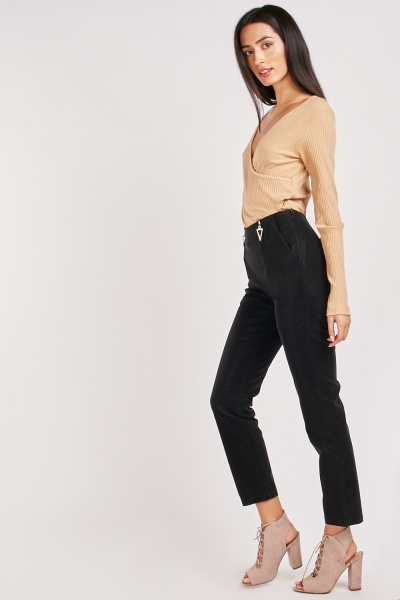 Triangle Zipper Trim Trousers