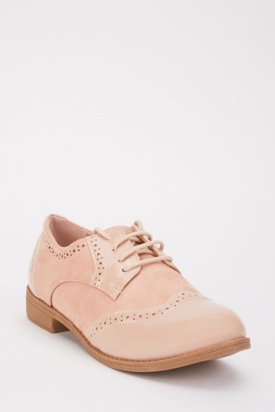 Suedette PVC Contrast Shoes
