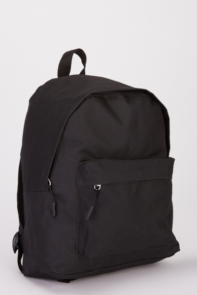Plain Pocket Front Backpack