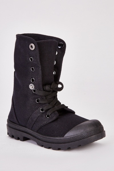 Kids High Top Contrasted Trainer Boots