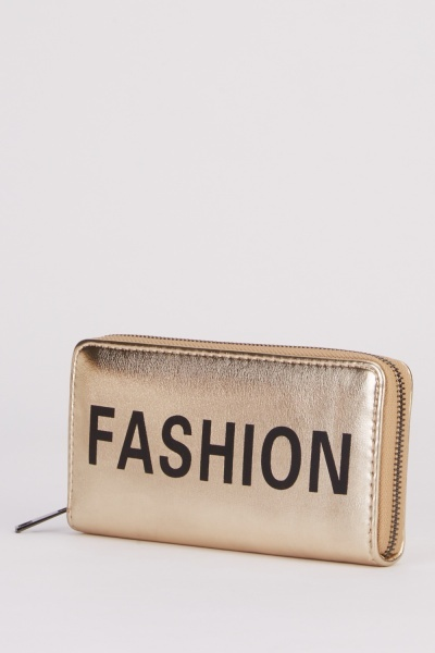Metallic Fashion Print Purse