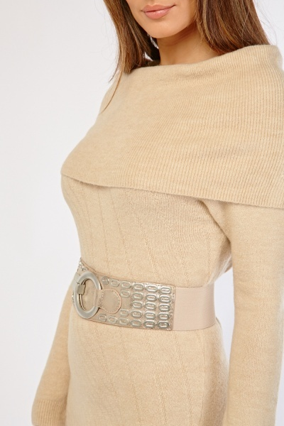 Metallic Detail Elastic Belt