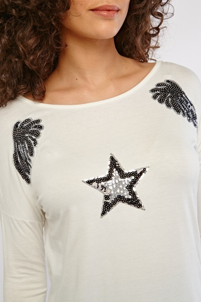 Sequin Star Encrusted Top
