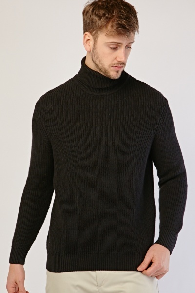 Roll Neck Chunky Cotton Pullover