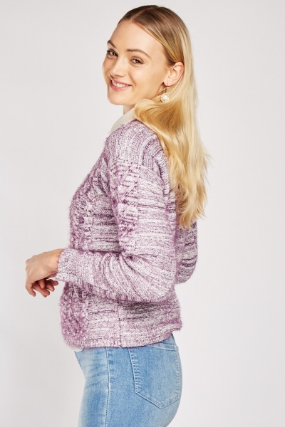Speckled Cable Jumper