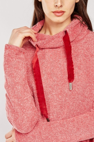 Textured Slouchy Neck Pullover
