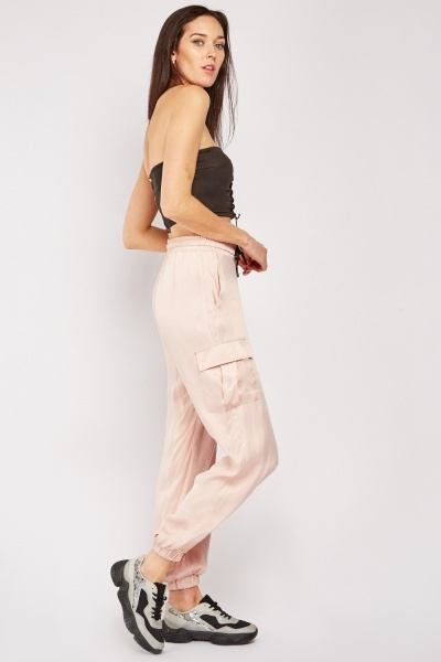 Cargo Pants With Pocket Flaps Side