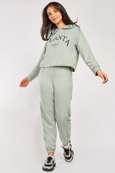 Cotton Hoodie And Joggers Set