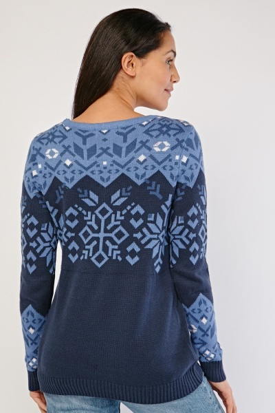 Fairisle Knit Pattern Sweater