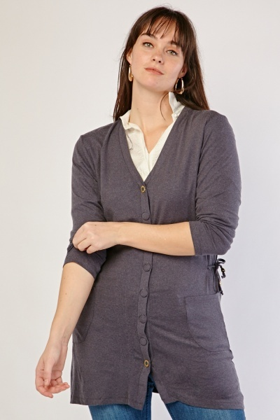 Tie Up Side Cardigan