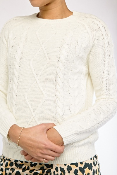 Diamond Cable Knitted Jumper