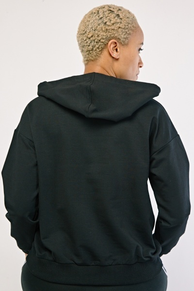 Printed Front Pouch Pocket Hoodie