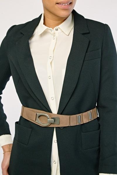 Contrast Metallic Elasticated Belt