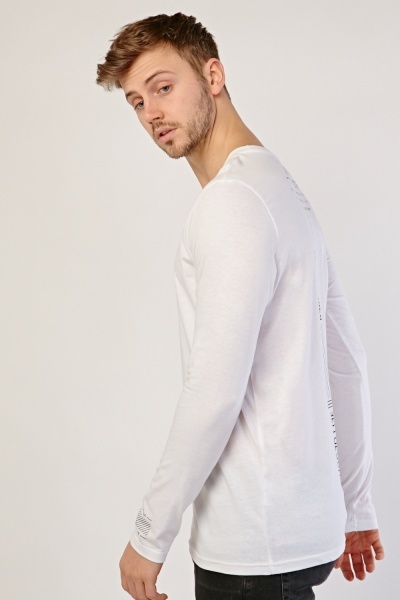 Printed Back Long Sleeve T-Shirt
