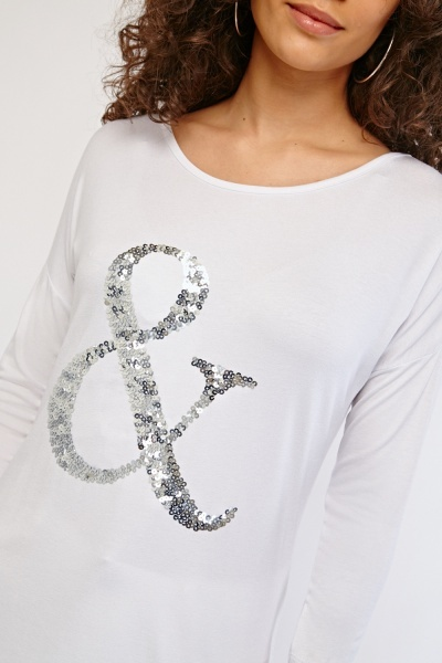 Sequin Encrusted Top