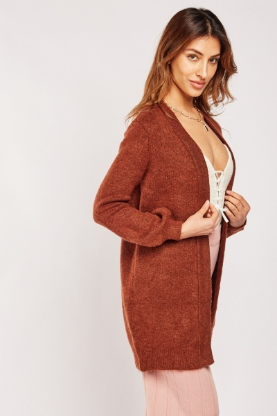 Open Front Long-Line Cardigan