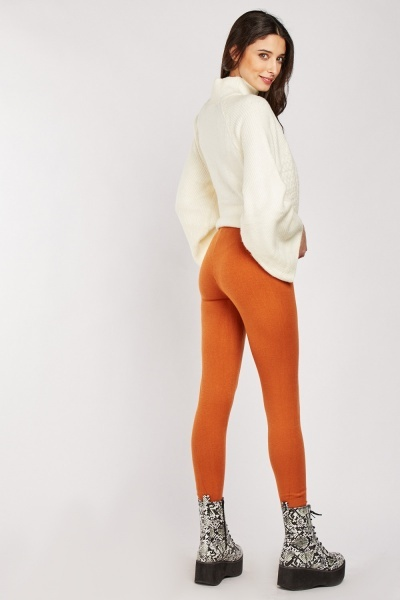Plain Knit Skinny Leggings