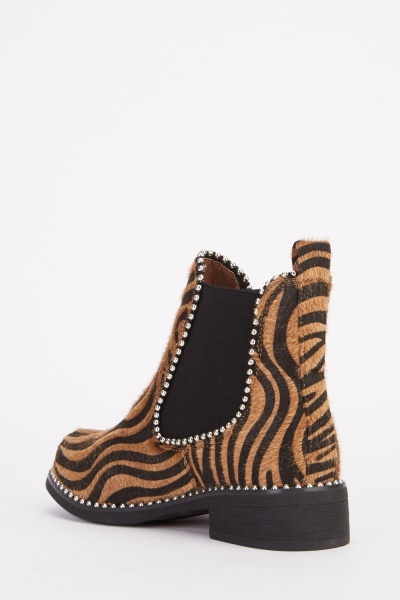 Animal Print Ankle Boots