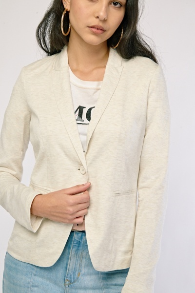 Single Button Front Fitted Blazer