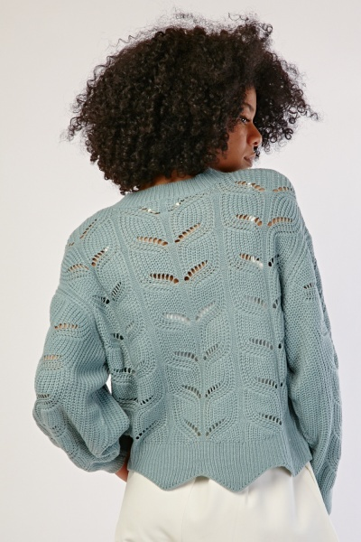 Scallop Trim Knit Jumper