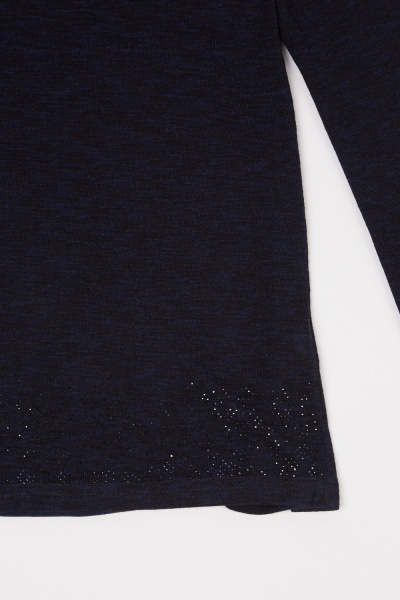 Encrusted Hem Speckled Top