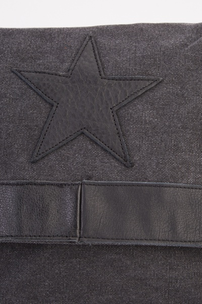 Star Applique Trim Messenger Bag