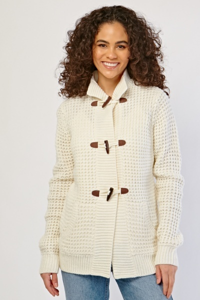 Toggle Front Chunky Knit Cardigan