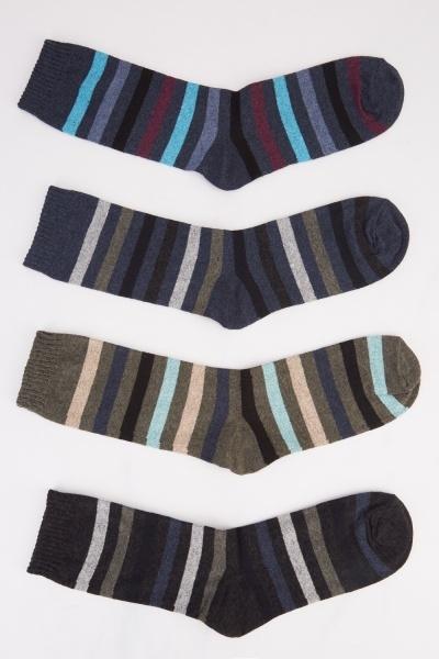 Striped 12 Pairs Of Women Socks