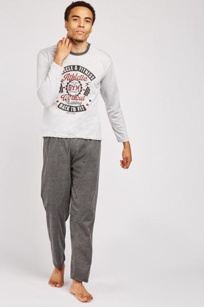 Athletic Workout Print Pyjama Set