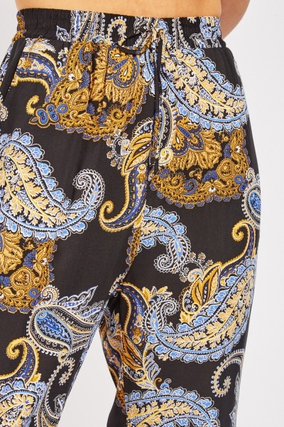 Paisley Printed Tapered Trousers