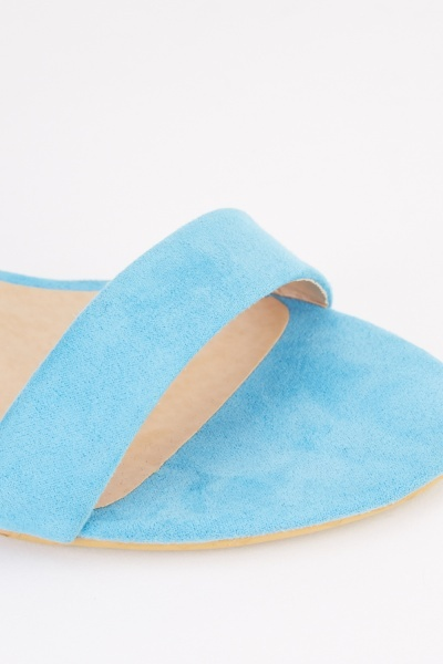 Low Heel Barely There Sandals