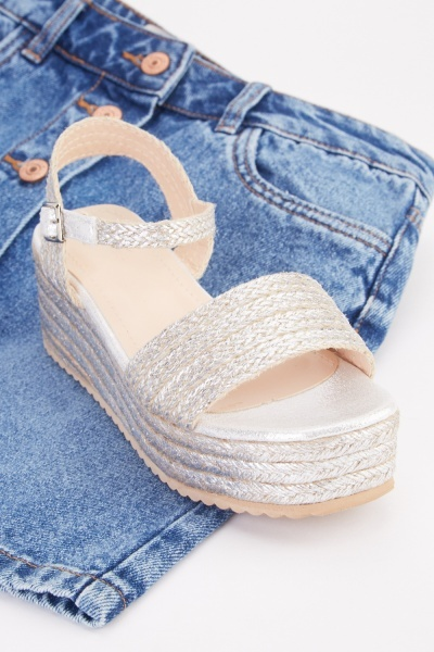 Weave Wedge Heel Sandals