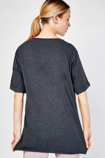 Roll Up Sleeve Cotton T-Shirt