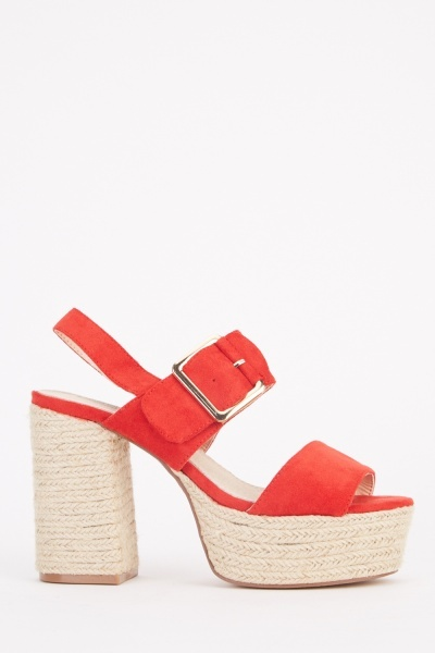 Chunky Heeled Sandals