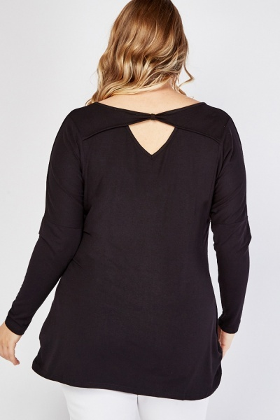 Encrusted Ruched Trim Top