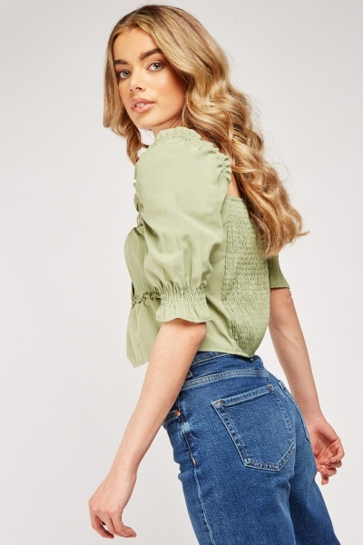 Tie Up Ruffle Top